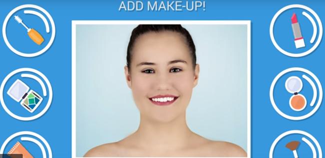 Adicione maquiagem a retratos